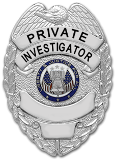 Investigator Eagle Top Shield Badge Badge And Wallet