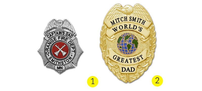 image of father's day badges