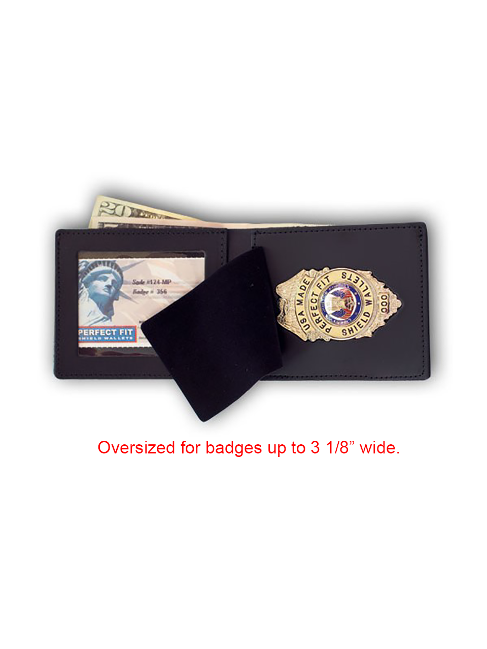 Duty Leather Top Open Badge And Id Wallet West Coast