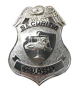 W67 Security Guard Badge in Nickel.