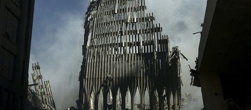 photograph of World Trade Center 9/11 aftermath