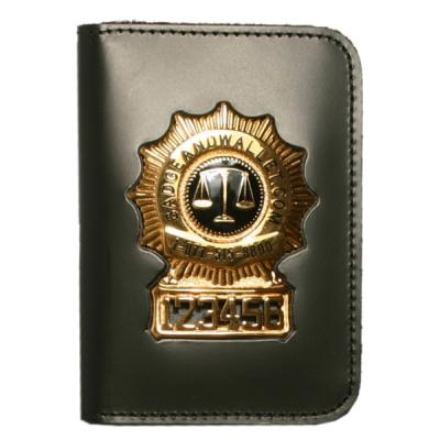 FBI Book Style Double ID and Badge Case Outside Mount ATF TBI