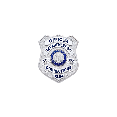 New Jersey Corrections Style Badge