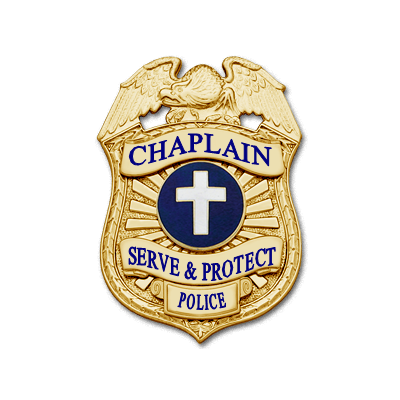 Chaplain Eagle Top Shield badge with cross center emblem