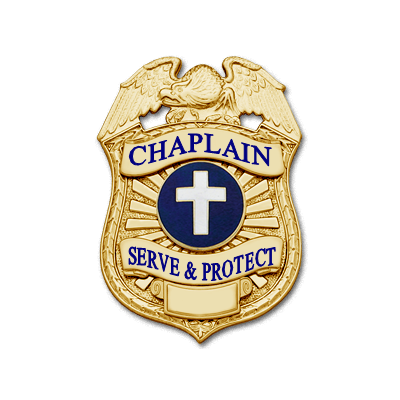 Chaplain Badge in Gold finish with cross center seal
