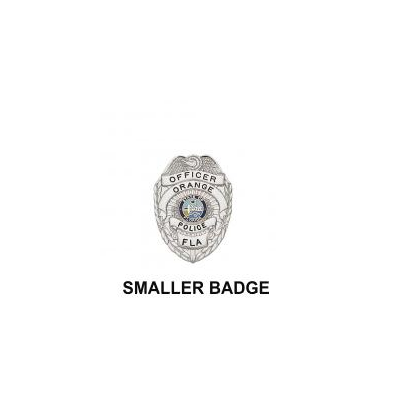 Orange Police Badge Miniature