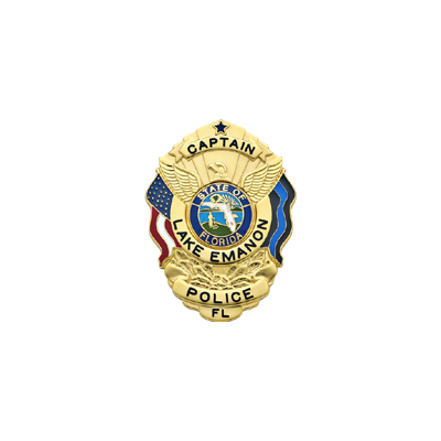 Lake Emanon Police Memorial Badge Model S503_BL
