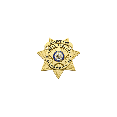 Lincoln County Sheriff's Office Badge Model S660A