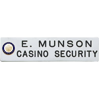 Casino Security Namebar with Seal model C604S_2
