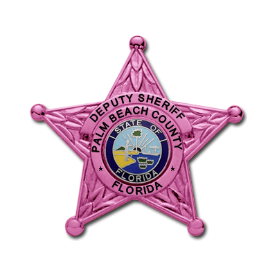 Palm Beach County Sheriff's Office Pink Breast Cancer Awareness Badge Model E106A
