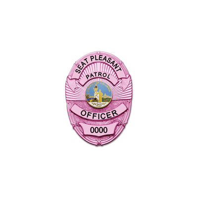 Seat Pleasant Patrol Officer Breast Cancer Awareness Badge Model M263-PINK