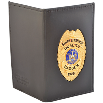 Dress Leather Outside Mount Badge & Double ID Case.
