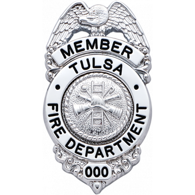 Tulsa Fire Department Badge Model S654