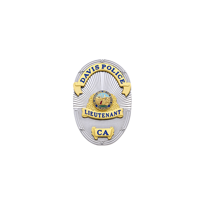 Davis Police Lieutenant Badge Model S665