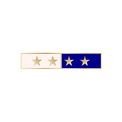 Smith & Warren Citation Commendation Bar Model C580_4 with 2 colors and 4 stars.