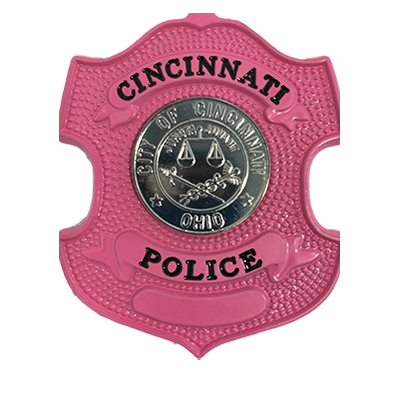 Cincinnati Police Department Pink Badge - Officer (with Number)