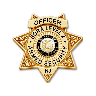 New Jersey SORA Level II Armed Security Officer Badge - Star Shape