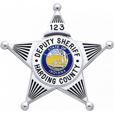 S258P 5 Point Star Badge - Harding County Deputy Sheriff