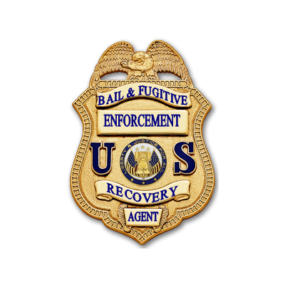 Bail & Fugitive Enforcement Recovery Agent Badge