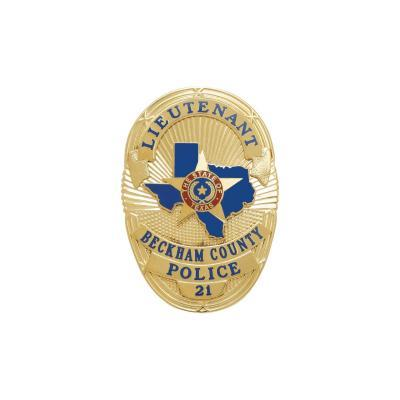 Beckham County Police Department Badge
