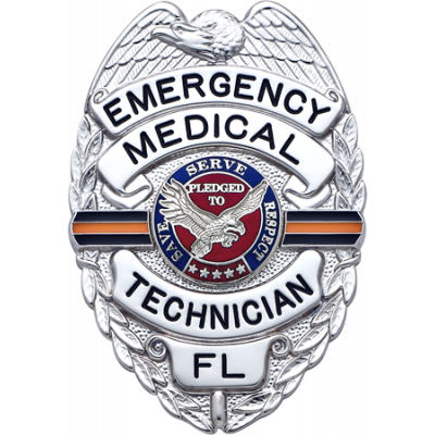 S155OL Orange Line memorial badge for fallen EMS