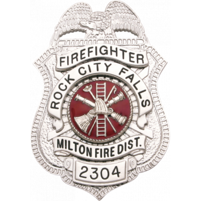 Rock City Falls Milton Fire District Firefighter Badge Model S21A