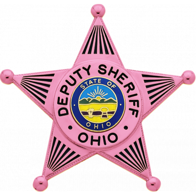 Ohio Deputy Sheriff Pink Badge Model S258-PINK