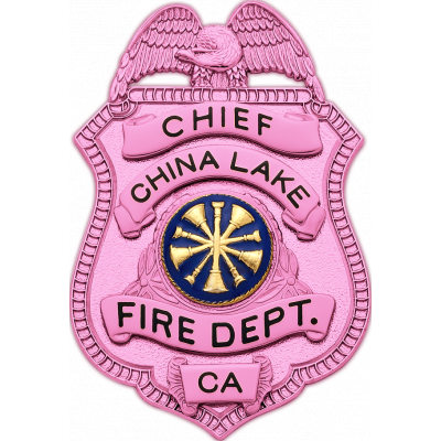 China Lake Fire Dept. BCA Badge Model S94