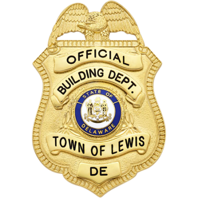 Building Department town of Lewis Official Delaware Badge Model S94A
