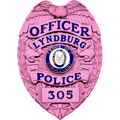 Lyndberg Police Breast Cancer Awareness Badge Model SB1901A
