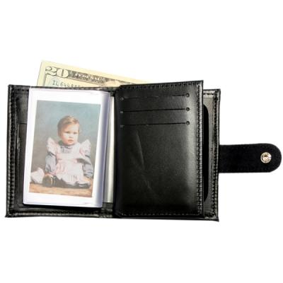 Product Image 1 for custom badge wallet product Hidden Badge Wallet w/ Money Pocket with Buckle