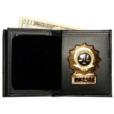 Product Image 1 for custom badge wallet product Hidden Badge Wallet w/ Money Pocket
