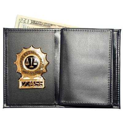 "Product Image 1 for custom badge wallet product Badge Wallet with Double larger ID and Credit Card Slots (2 3/4"" x 4 3/8"")"