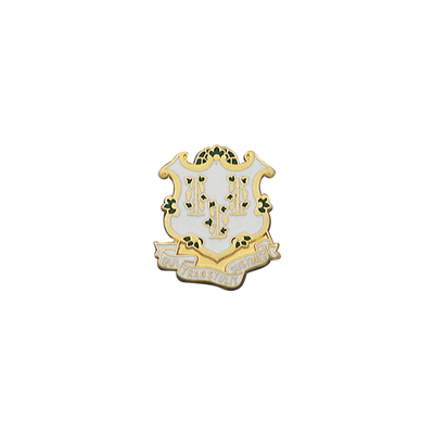 Connecticut Coat of Arms Pin