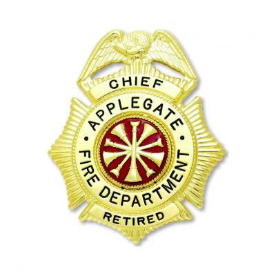 Applegate Fire Department Chief Retired