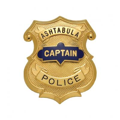 Ashtabula Police Captain Badge Model MW5004