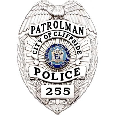 City of Cliffside Police Patrolman Badge Style SB1902A