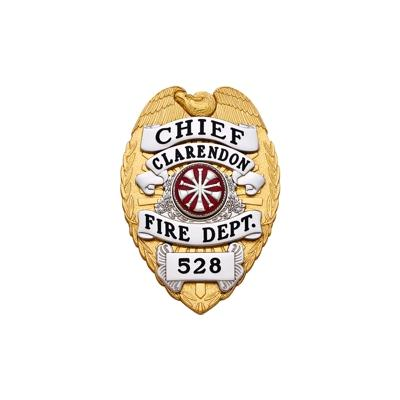 Chief Clarendon Fire Dept. badge