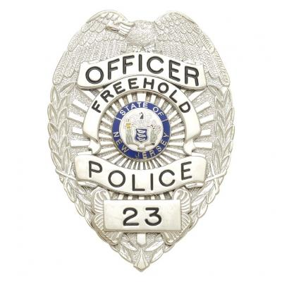 Officer Freehold Police badge