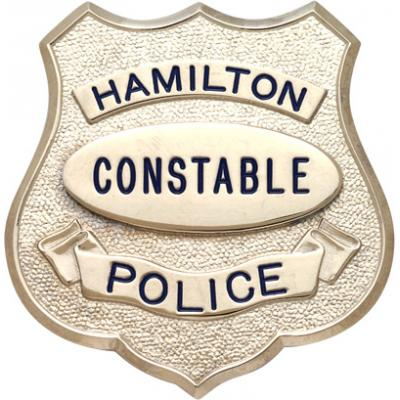 Hamilton Constable Police Shield Badge Style S548