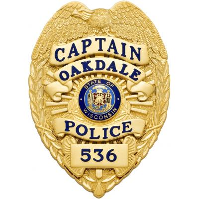 Captain Oakdale Police badge