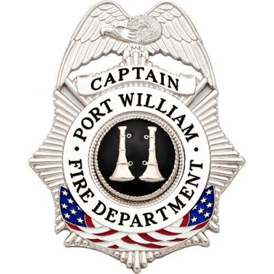 Port William Fire Department Captain Badge Style S634