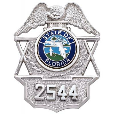S112 Hat Badge - STate of Florida Number 2544