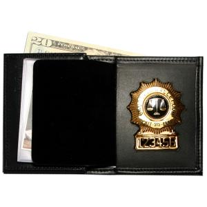 Product Image 1 for custom badge wallet product Badge Wallet with Double ID Window & 3 cc slots